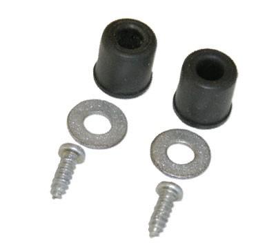 FUEL FILLER DOOR BUMPERS 60, with washers & screws, pair
