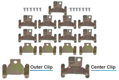 WINDOW MOLDING CLIPS 59-60, Lower Windshield Molding Clip Set , 26 pieces