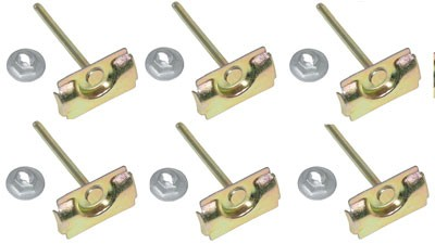 WINDOW MOLDING CLIPS 59-60, Front Upper Windshield Molding Clip Set