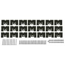 59-60 BED MOLDINGS 59-60, Clip & Screw Set , Complete