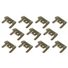 BODY MOLDING CLIPS 59-60, Rear Roof Molding Clip Set   11 pieces
